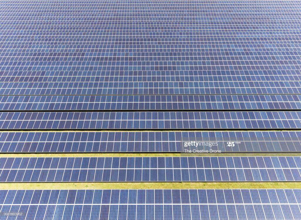 Solar Farm : Stockfoto